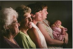 Five Generations of beautiful women. What a great idea for family photo.