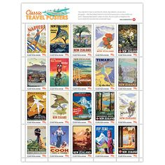 Take a journey back to a time when New Zealand relied on its iconic graphic art to entice tourists from near and far. These classic travel posters helped build the tourism industry that now makes New Zealand world famous. Tourism Poster, Travel Posters, French Collection, Air New Zealand, Kiwiana, All Things New, First Day Covers, Art Deco Design, South Pacific