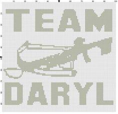 Team Daryl cross stitch pdf by CrossStitchGraphghan on Etsy