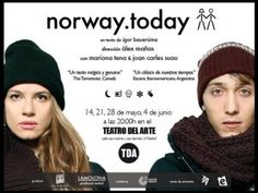 """Cartel de """"norway.today"""" Norway Today, Knitted Hats, Theater, Poster, Knit Caps, Knitted Beanies, Knit Hats"""