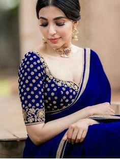Saree Blouse Neck Designs, Fancy Blouse Designs, Bridal Blouse Designs, Indian Blouse Designs, Brocade Blouse Designs, Sari Design, Designer Kurtis, Stylish Blouse Design, Stylish Sarees