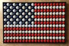 American Flag made of Golf Balls by DreaAndNatasha on Etsy