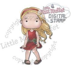 Polka Dot Pals Vicktoria from Little Miss Muffet Stamps.