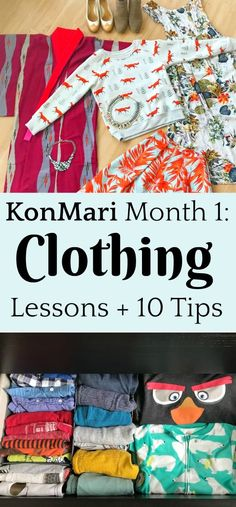 Declutter clothing with the KonMari method and get rid your bedroom organized, once and for all! Great tips for decluttering clothing. before and after clothes House Cleaning Tips, Spring Cleaning, Cleaning Hacks, Konmari Books, Konmari Methode, Clutter Control, Declutter Your Life, Declutter House, Book Organization