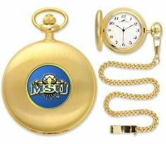 """Morehead State Eagles Pocket Watch by SunTime. $49.95. 12"""" Chain. Officially Licensed Morehead State Eagles Pocket Watch. Japanese Quartz-Accurate Movement. Unisex Adults. Metal Cover. Morehead State Eagles Pocket Watch. The classically styled Pocket Watch is thoughtfully crafted and is a superior quality timepiece. The Eagles pocket watch comes with a matching 12"""" chain. The watch features a quartz-accurate Japanese movement to display time on our traditionally s..."""