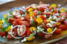 Heirloom Tomato Salad with Feta and Onion