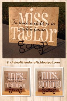 Teacher Tile - Photo on Circle of Friends Crafts