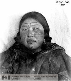 Inuit Facial Tattoo   Tattooed Aivillik woman, Igluirmuit, Southampton Island, Hudson Bay. Photographer Low, A. P. 1903