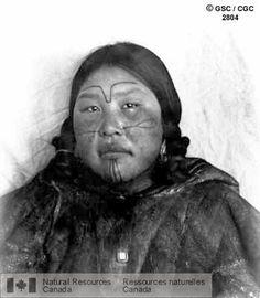 Inuit Facial Tattoo   Tattooed Aivillik woman, Igluirmuit, Southampton Island, Hudson Bay. Photographer Low, A. P. 1903