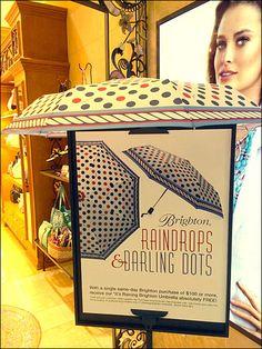 Raindrops and Darling Dots Umbrellas Aux Rain Drops, Umbrellas, Polka Dots, Display, Day, Frame, Billboard, A Frame, Polka Dot