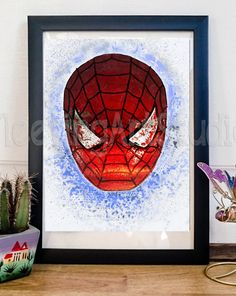 MARVEL SPIDERMAN Comic Art Print Poster by FleetingArtStudio