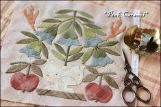 """Pink Caramel: doing  """"A Bountiful Life"""" Block 1 Bluebell Bouquet            by Karen Mowery"""