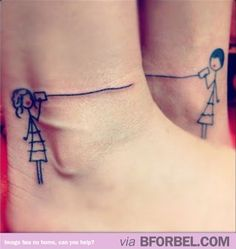 BFF ankle tattoos. Adorable.