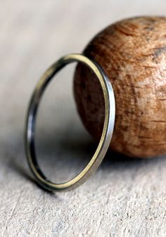 Simple thin solid 14k gold ring - praxis jewelry $64.00. Shipping is free!