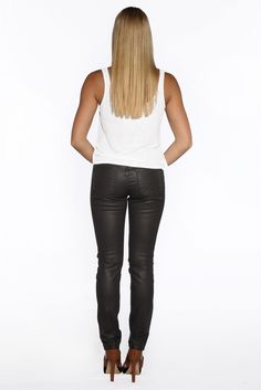 New for our Fall 2014 Collection is our Women's gray waxed skinny jeans. See the whole collection now at www.marcnelsondenim.com