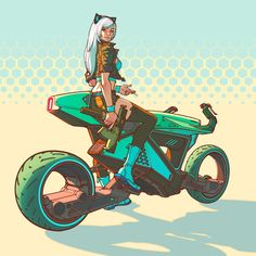 thing Just for fun Futuristic Motorcycle, Futuristic Art, Motorcycle Art, Character Concept, Character Art, Cyberpunk Kunst, Motorbike Design, Graffiti Pictures, Concept Motorcycles