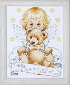 Angel Birth Record - Counted Cross Stitch Kit