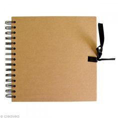 Cuaderno de scrapbooking 20 x 20 cm - Natural - 40 hojas - Fotografía n°1