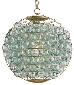 Pistache Orb Chandelier from Currey & Co.
