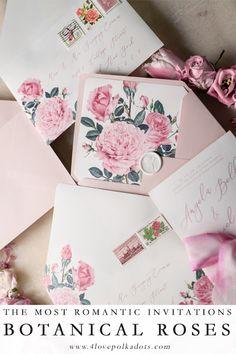 Destination wedding invitation stationery boarding pass roses are pink wedding invitations with garden roses stopboris Choice Image