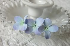 Something Blue  Hydrangea Hair Pins on U pins For by PetalByPetal, $15.00