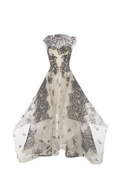 Guipure Lace Gown by ZAC POSEN for Preorder on Moda Operandi