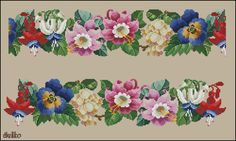 ru / Photo # 8 - My hobby 1 - Suliko Mini Cross Stitch, Cross Stitch Rose, Cross Stitch Borders, Cross Stitch Flowers, Cross Stitch Charts, Cross Stitch Patterns, Vintage Cross Stitches, Vintage Embroidery, Beaded Embroidery