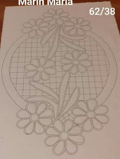 Border Embroidery Designs, Cutwork Embroidery, Floral Embroidery Patterns, Doily Patterns, Quilting Designs, Hand Embroidery Videos, Hand Work Embroidery, Lace Painting, Crochet Flower Tutorial