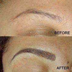 Semi-permanent hairstroke eyebrows by myself at Deeper Aesthetics Permanent Cosmetics. www.deeperaesthetics.co.uk