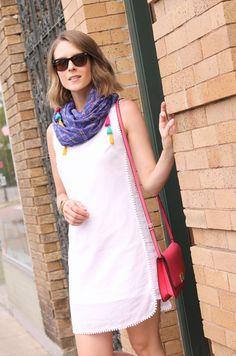 Little white dress + bright accessories #targetstyle #Summer2015
