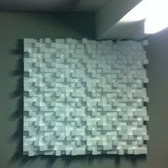 Application Photos: Difusser wall application. Sound Diffuser: ALPHAcoustic City