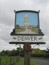 Denver village sign Norfolk England, English Village, Decorative Signs, Antique Shops, Shop Signs, Vintage Signs, Great Britain, Windmills, Antiques
