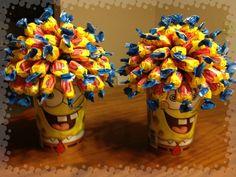 Spongebob Centerpieces Spongebob Face, Spongebob Crafts, Spongebob Birthday Party, 1st Boy Birthday, Birthday Board, Birthday Ideas, Yellow Birthday Parties, Birthday Party Decorations, Birthday Centerpieces
