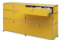 USM Drawers in Golden Yellow
