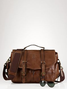 Leather Messenger Bag- Have one just like this that isn't RL, but have had it for years and still love it, maybe even more.