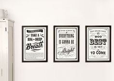 The Style Eater | Typography wall art | http://thestyleeater.com