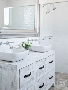Just adore this bathroom vanity! Addicted to house rules. Bathroom Styling, Bathroom Interior Design, Bathroom Renos, Bathroom Ideas, Wood Vanity, House Rules, Bathroom Inspiration, Home And Living, Living Spaces