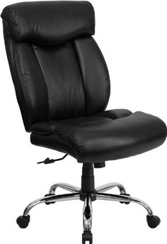 Flash Furniture HERCULES Series Big & Tall 400 lb. Rated Black Leather Executive Swivel Chair