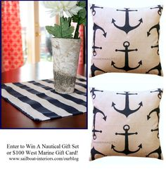 Awesome nautical inspired pieces from Sailboat Interiors http://www.sailboat-interiors.com/ourblog/author/bethorama33/