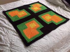 (4) Name: 'Crocheting : Recursive Echo blanket