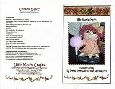 Free Raggedy Anne Pattern Cotton Candy Annie