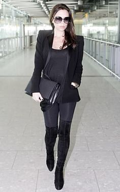 Victoria Beckham - All Black (She was pregnant here!).