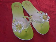 Flip Flop Sandals, Flip Flops, Beading Tutorials, Anklet, Beaded Jewelry, Jewlery, Flats, How To Wear, Shoes