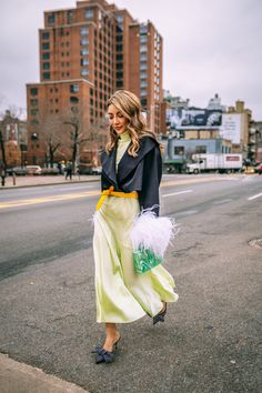summer staples to take into fall, slip skirt and mules, slip maxi skirt, fashion week outfit // Notjessfashion.com