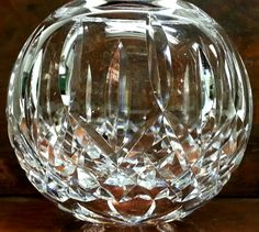 Waterford Crystal Lismore Pattern Rose Bowl by Snowyowltreasures