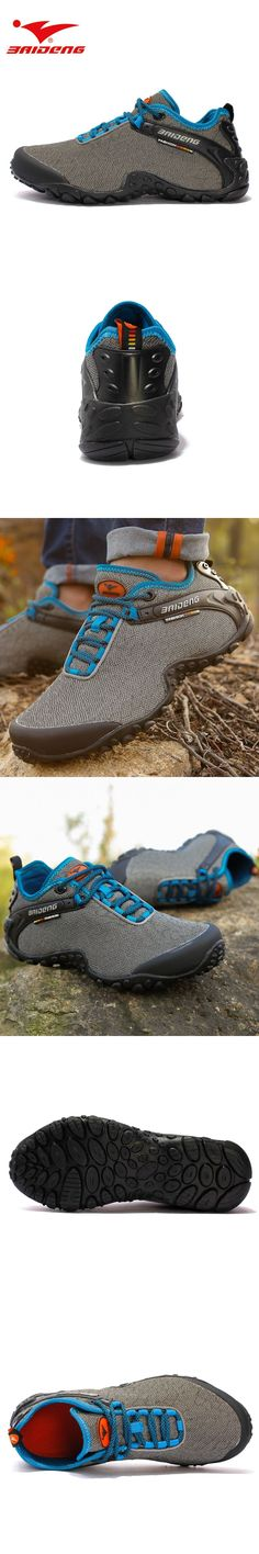 Baideng Men hiking shoes Breathable athletic shoes outdoor sport Walking Shoes Quick Dry Shoes zapatos hombre