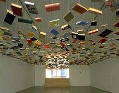 "Richard Wentworth's ""False Ceiling"" installation."
