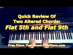 Do You Know The Flat 5th and Flat 9th Chords? | Piano Lessons for Adults
