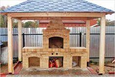 """Résultat de recherche d'images pour """"barbecue vertical en brique"""" Backyard Kitchen, Summer Kitchen, Outdoor Kitchen Design, Patio Gazebo, Backyard Landscaping, Pergola, Fire Pit Grill, Outdoor Projects, Outdoor Decor"""