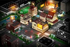 Cities by Denis , via Behance